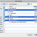 Выгрузка некоторого множества файлов с помощью поля ввода