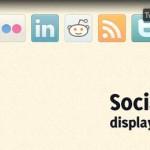 Красивый способ отображения социальных иконок на CSS3