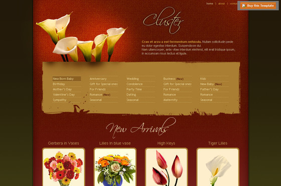 Free Flowers Website Template