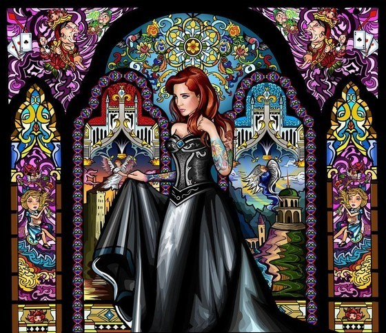 Stained Glass Maiden