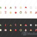 Рождественские мини-иконки