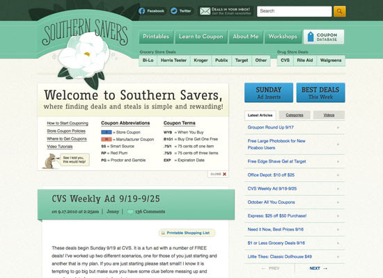 Southern Savers Case Study, Part IV: Typography