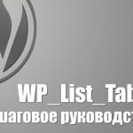 WP_List_Table – пошаговое руководство