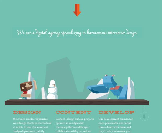 25 занимательных сайтов с параллакс-прокруткой