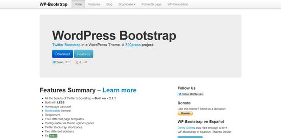 Wordpress Bootstrap 320 Press