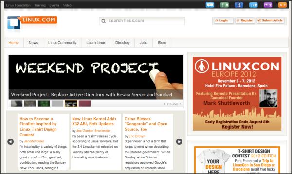 Popular websites using Joomla   Linux