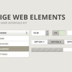 Бежевые веб-элементы (PSD)