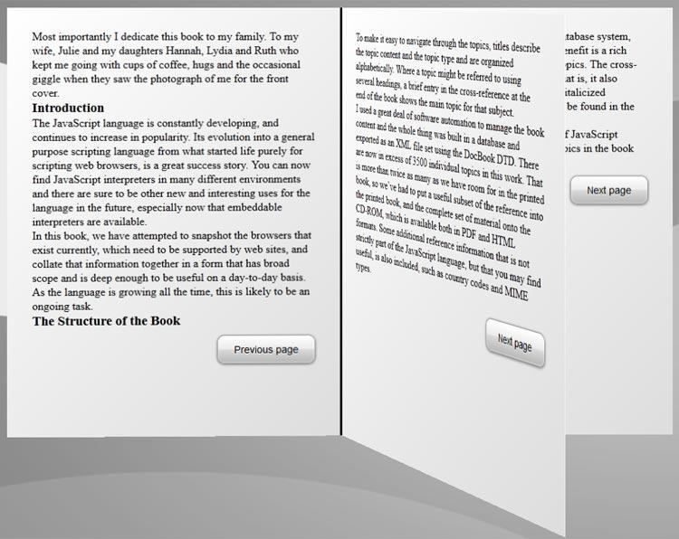 3D CSS3 Book Generator