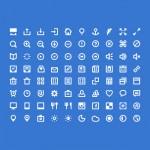 80 мини-иконок (PSD + шрифт)