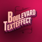Бульварный ретро-эффект для текста (PSD)
