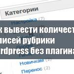 Как вывести количество записей рубрики Wordpress без плагина