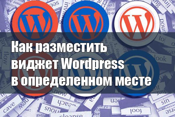 Как разместить виджет Wordpress в определенном месте