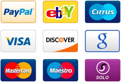 Различные способы оплаты - набор иконок PNG