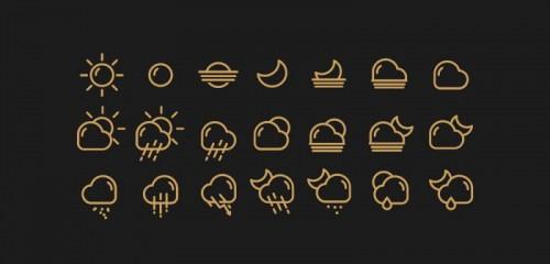 Иконки для отображения погоды