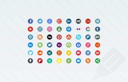 Бесплатные иконки социальных сетей