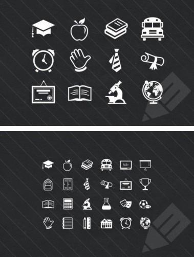 Иконки на тему обучения