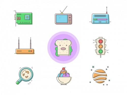 Набор уникальных иконок