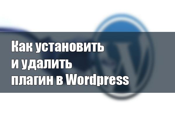 Как установить и удалить плагин в Wordpress
