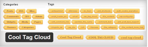 Красивый виджет Wordpress для вывода облака меток - Cool Tag Cloud