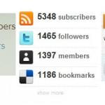 Вывод количества Twitter, Feedburner и Delicious подписчиков с помощью PHP