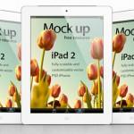 Векторный шаблон iPad 2  (PSD)