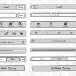 Sketchy – набор элементов для iPhone приложений (Ai&EPS&SVG)