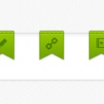 Дизайн лент с мини-иконками (PSD)