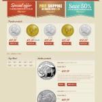 Retro shop – макет главной страницы интернет-магазина в ретро-стиле