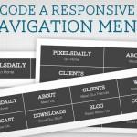 Вёрстка адаптивного навигационного меню