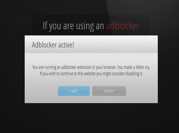 Adblocker detected!
