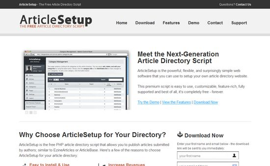 Article Setup
