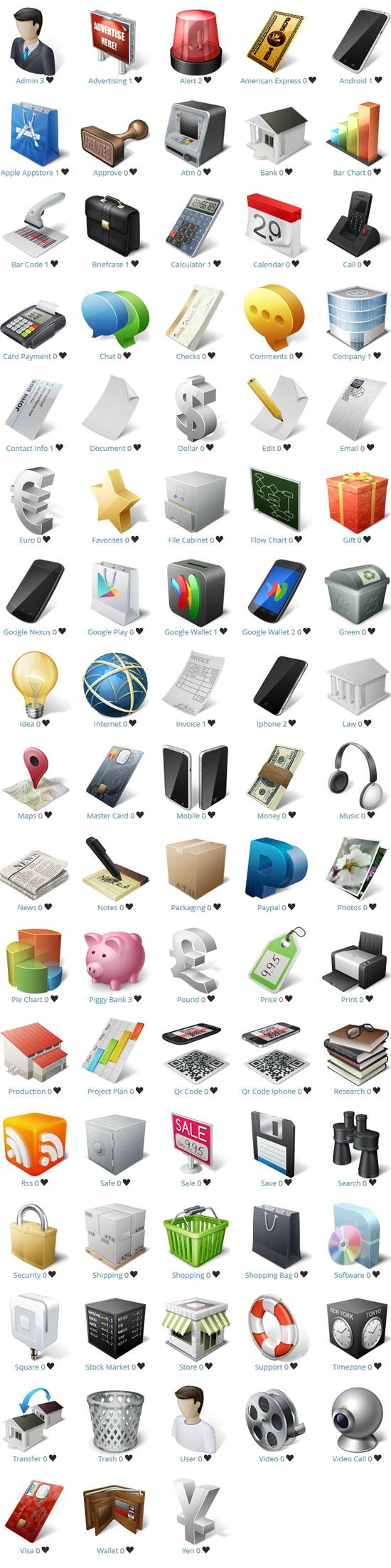 Freebie: Ecommerce and Business Icon Set