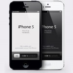 Векторный шаблон iPhone 5 (PSD)