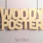 Текст с эффектом под дерево (PSD)