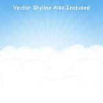 Бесплатные векторные облака (PSD)