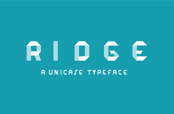 RIDGE Typeface by Erika Noel Mackley