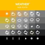 Иконки для прогноза погоды