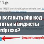 Как вставить php код в статьи и виджеты Wordpress?