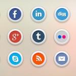 15 объемных иконок соцсетей