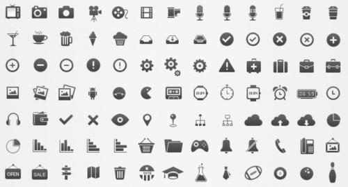 Стиль Modern - иконки PSD бесплатно
