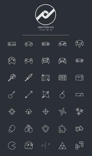 Набор геймерских иконок