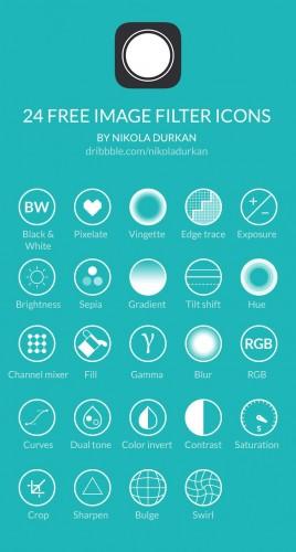 Иконки для фильтров камеры на мобильном телефоне