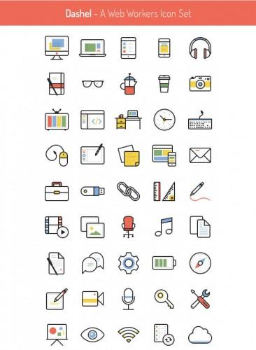 Красивые иконки тематики Фриланс