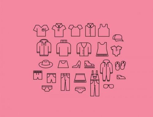 Иконки одежды в векторе