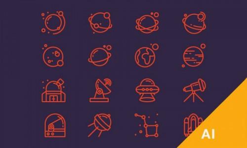 Иконки на тему космоса