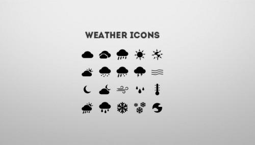 Простые иконки погоды скачать