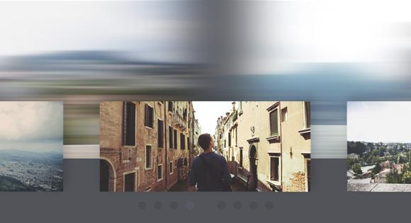 Эффект размытия при просмотре изображений