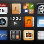 Иконки IOS в формате PSD