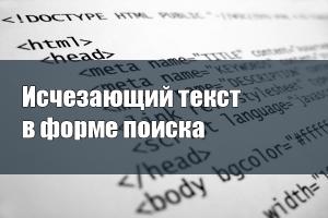 Исчезающий текст в форме поиска