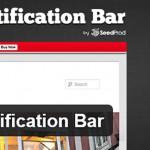 Всплывающая панель уведомления – плагин WordPress Notification Bar